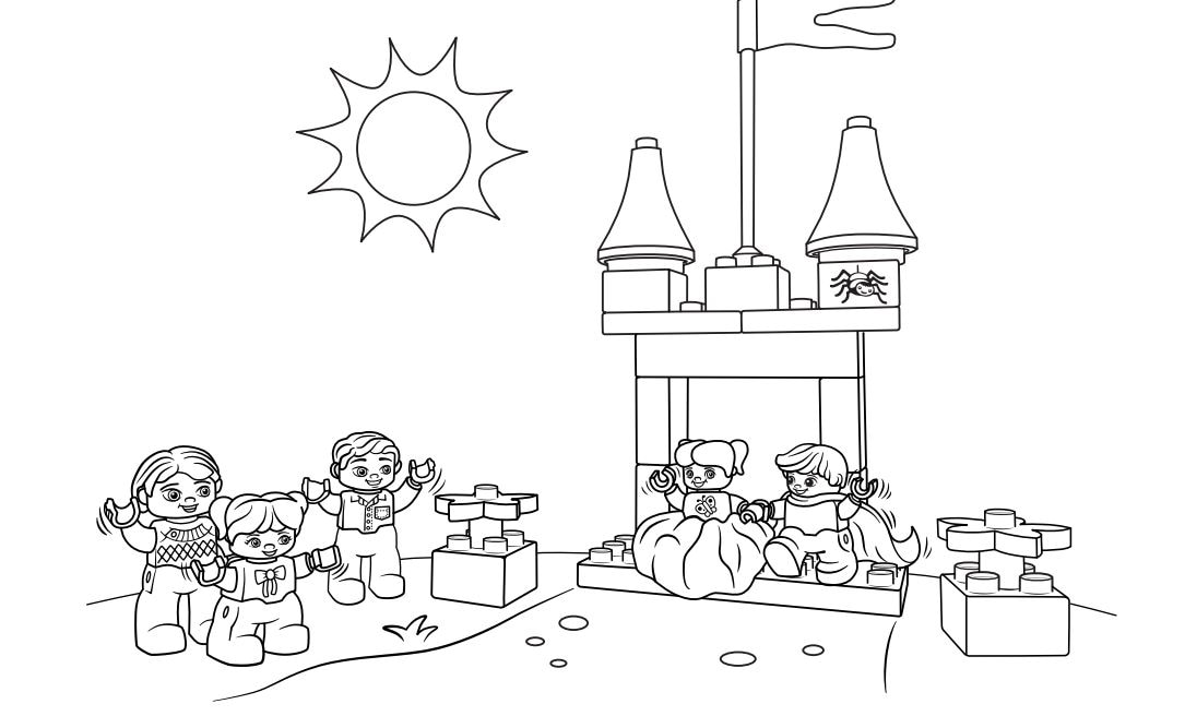 LEGO Education Preschool Support - Coloring pages