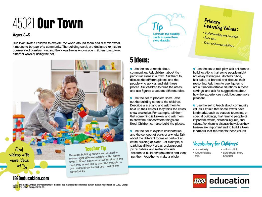 LEGO Education Preschool - Our Town - Idea Cards