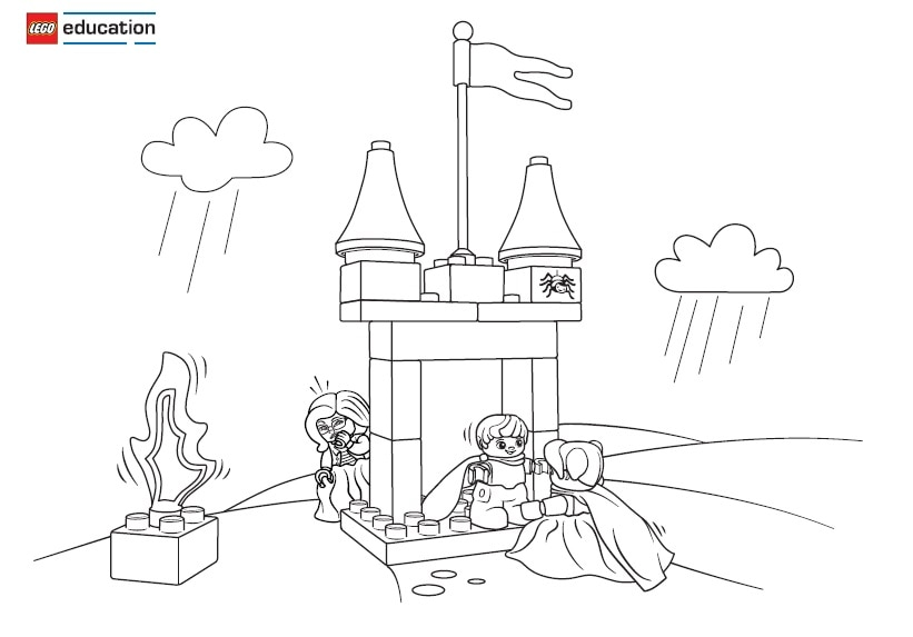 princess and the pea coloring page. the princess and pea scene 2 coloring page n