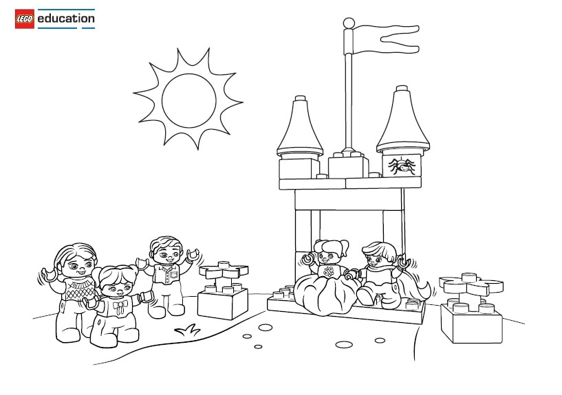 princess and the pea coloring page. the princess and pea scene 5 coloring page