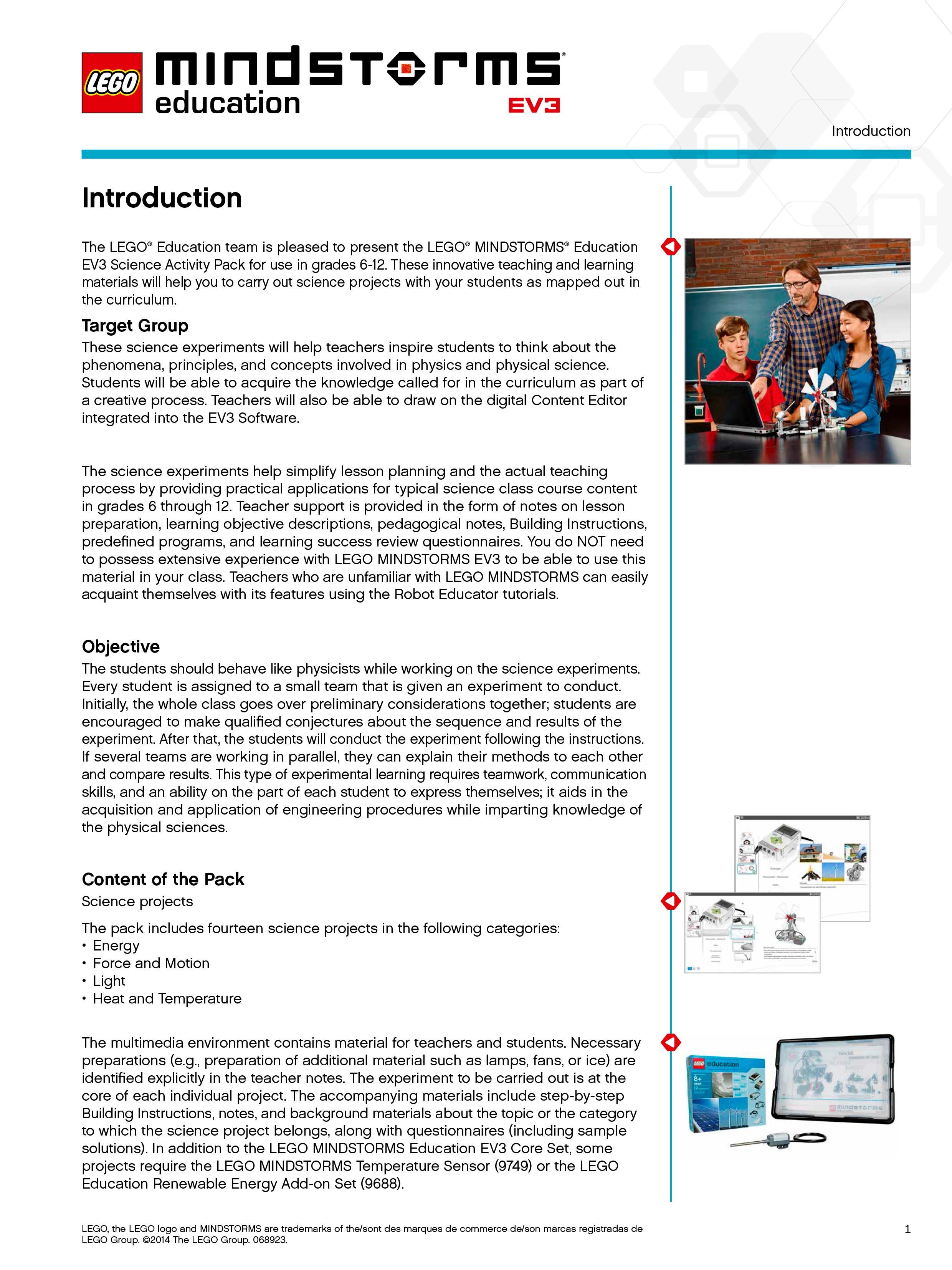 MINDSTORMS EV3 Science teacher introduction