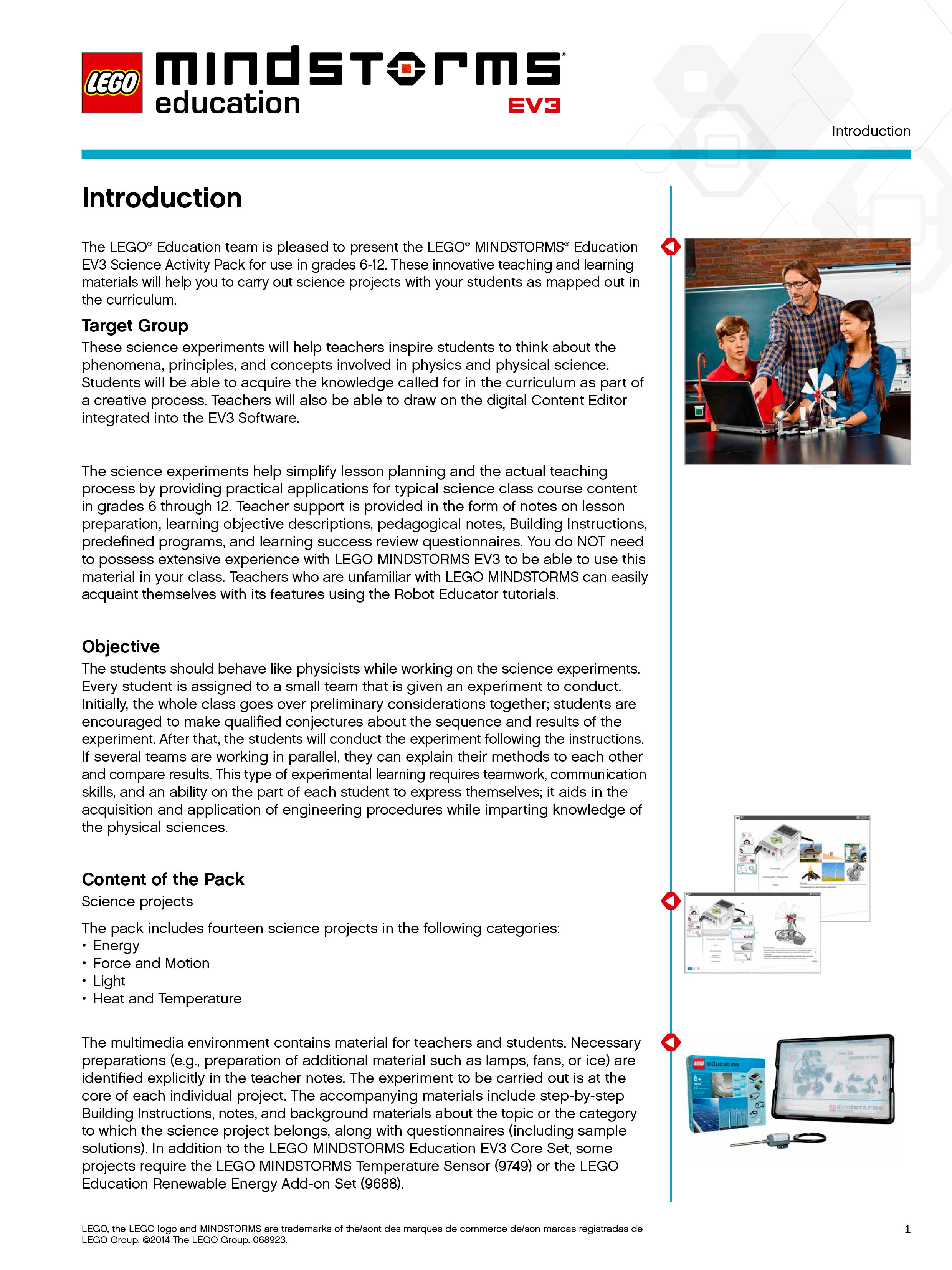 MINDSTORMS EV3 Science teacher introduction