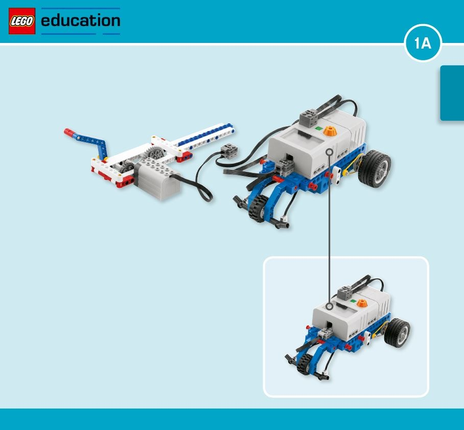 LEGO Education Machines&Mechanisms - Building instructions - hand generator