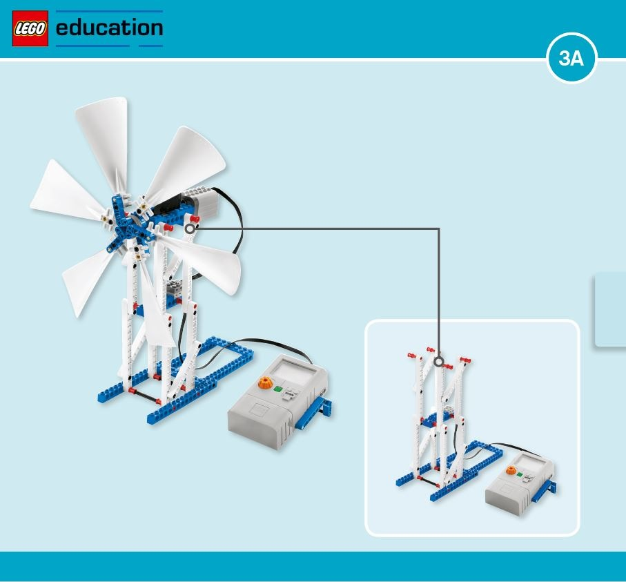 LEGO Education Machines&Mechanisms - Building instructions - wind turbine