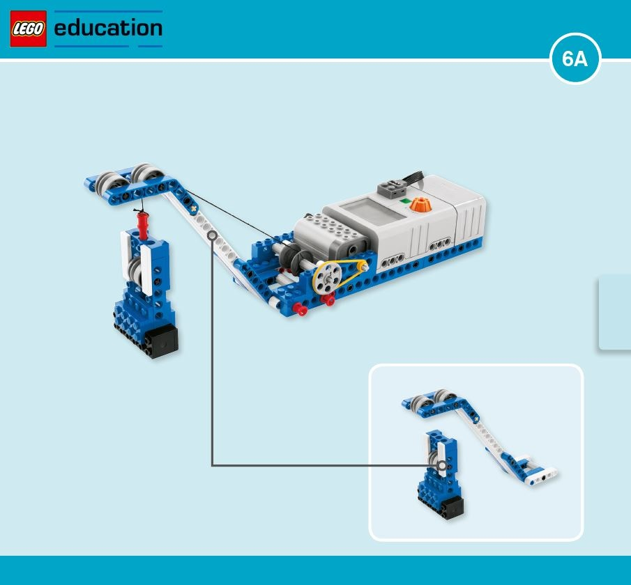 LEGO Education Machines&Mechanisms - Building instructions - boat pulley