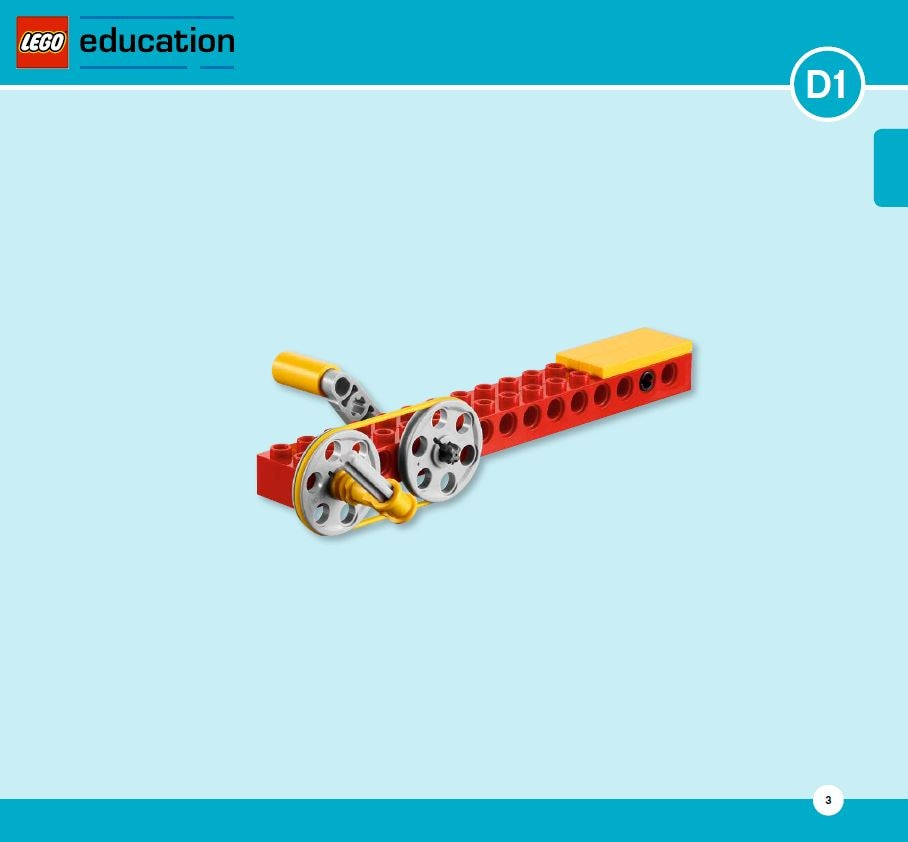 LEGO Education Machines&Mechanisms - Building instructions - pulleys