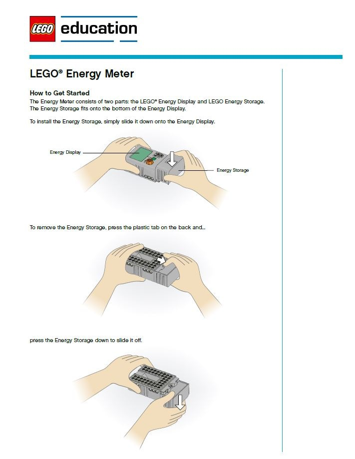 LEGO Education - Machines & Mechanism - Energy Meter Guide