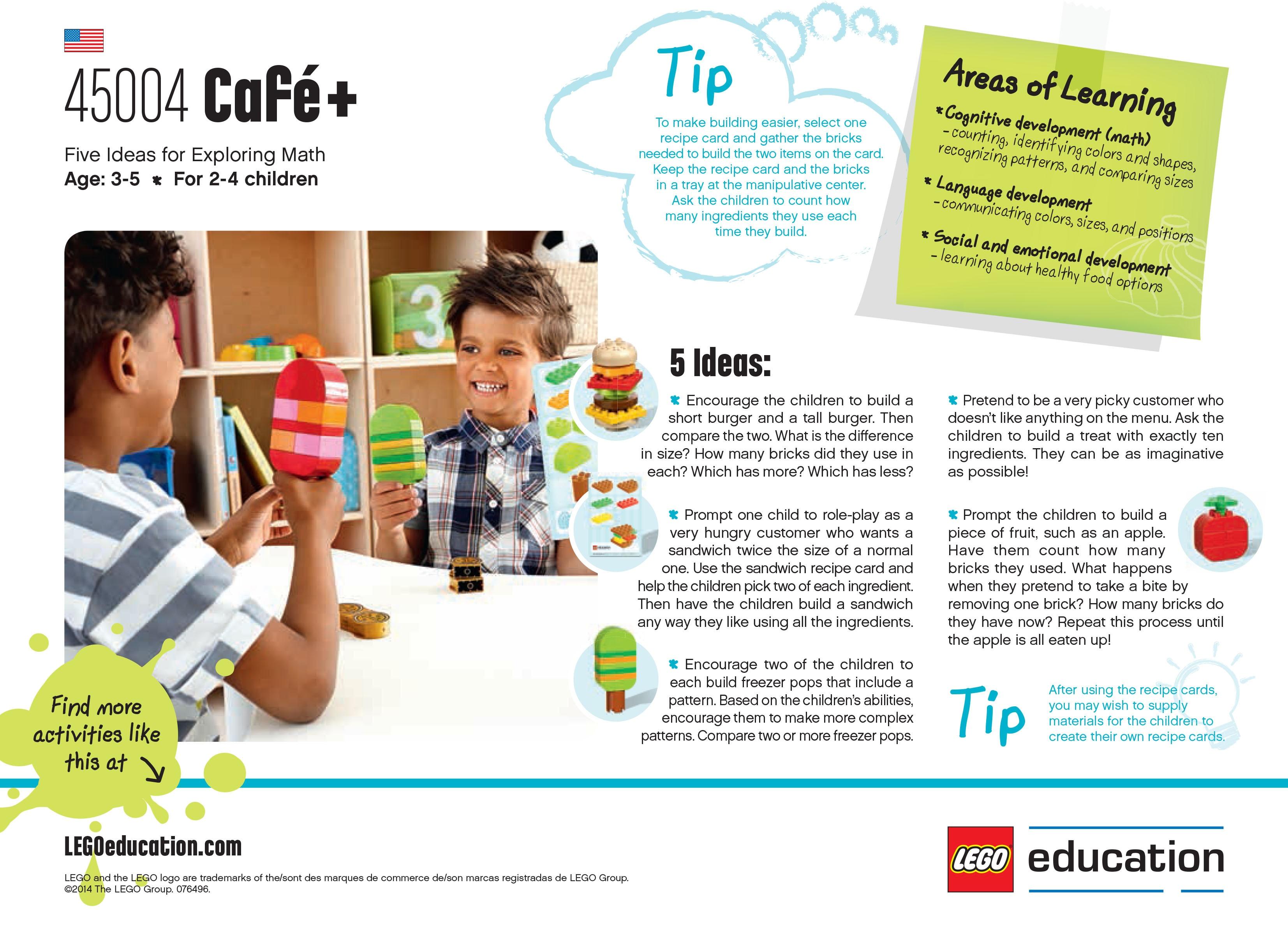 Café+ activity ideas