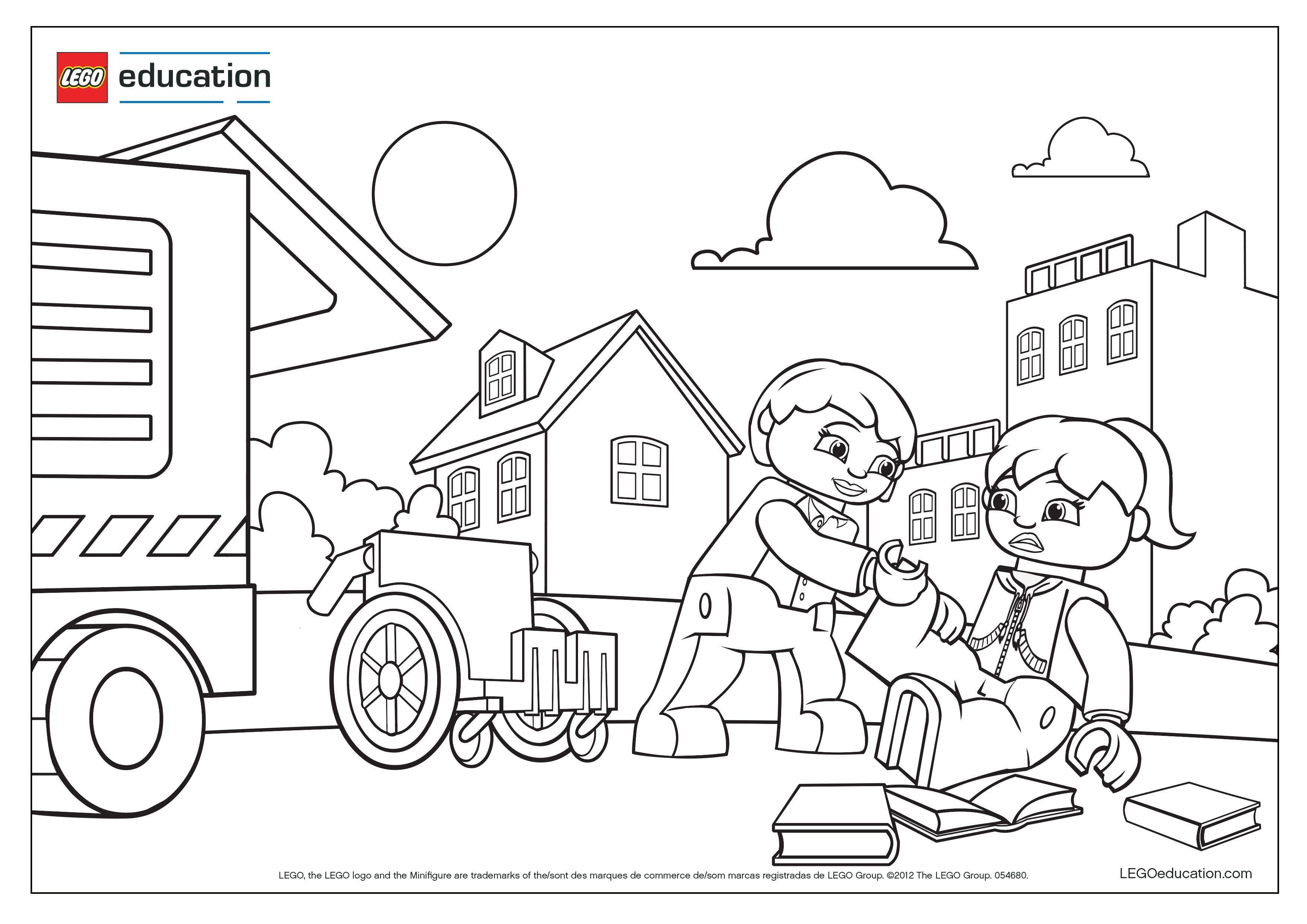 Preschool Coloring Pages Support