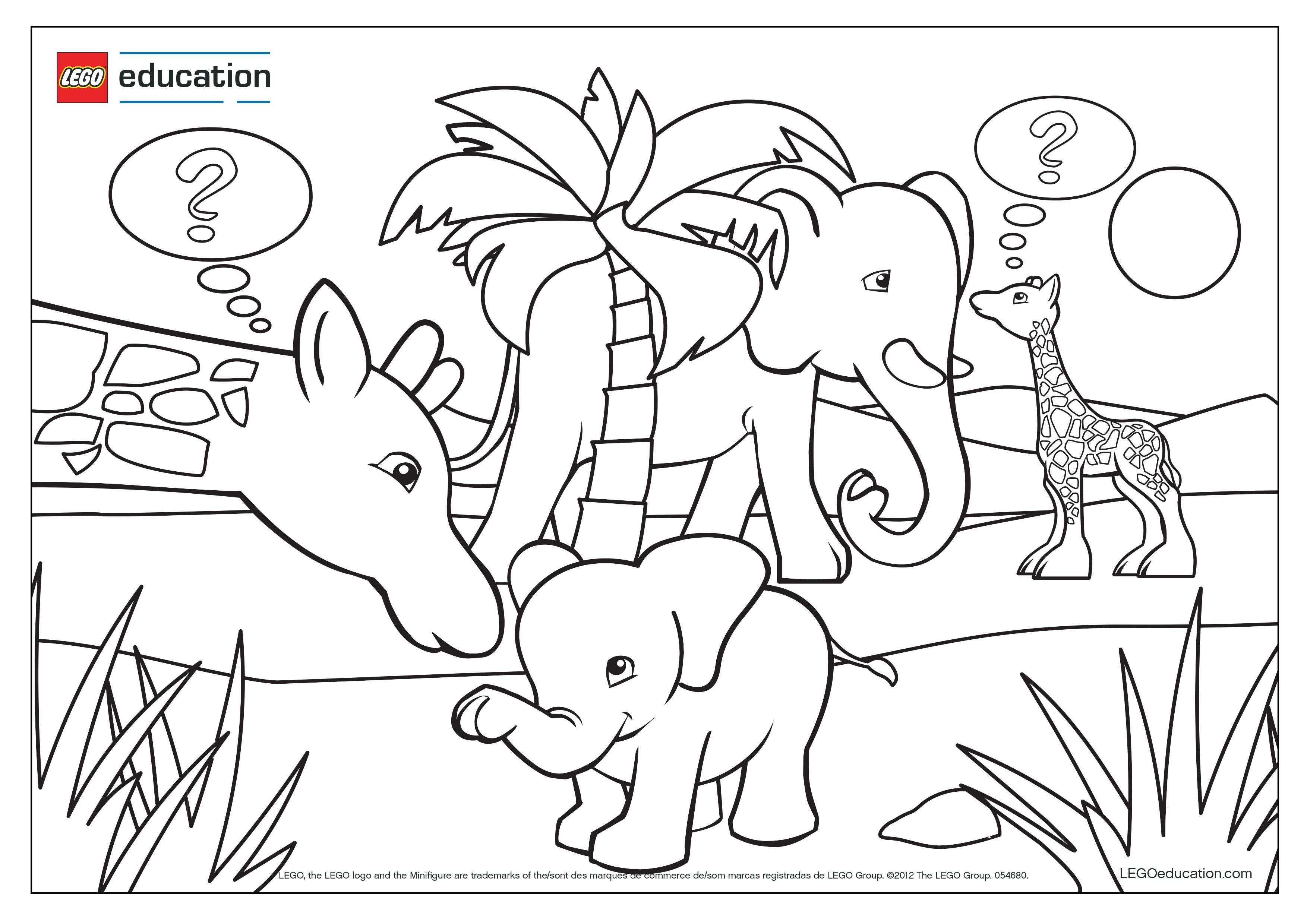 Kindergarten Ausmalbilder Support Lego Education