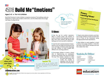 Build Me Emotions - 5 Ideas activity