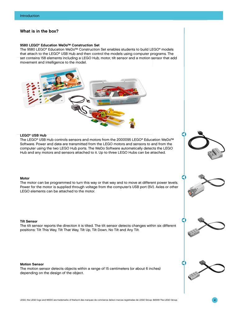 WeDo User Guide – Support – LEGO Education