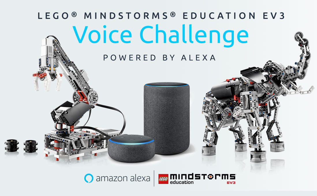 Enter LEGO MINDSTORMS EDUCATION EV3 VOICE CHALLENGE prowed by Alexa for a chance to win $20,000!