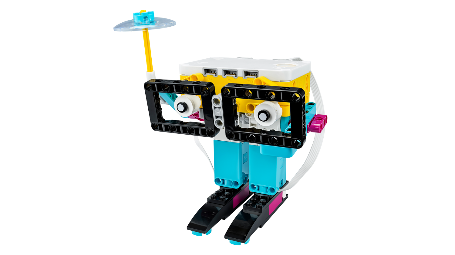 LEGO Education SPIKE Prime Weather Caster model from the Rain or Shine lesson plan