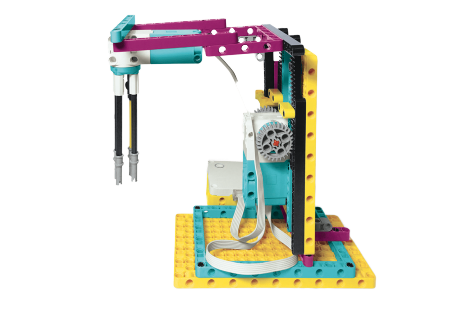 LEGO Education SPIKE Prime Unscrews Nuts From a Bolt model