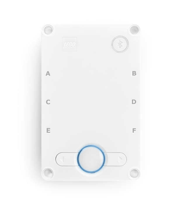 The Hub with center button flashing blue.