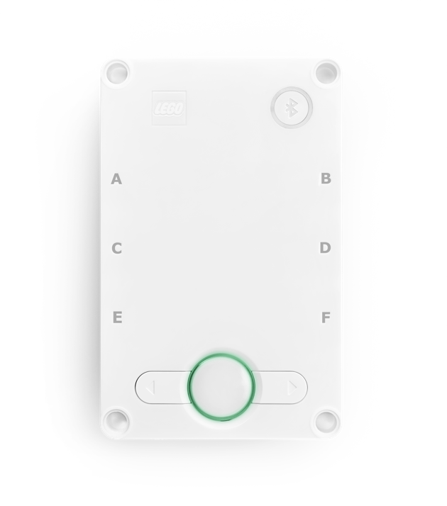 The Hub with center button flashing green.