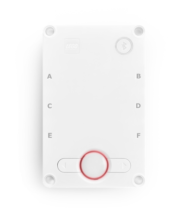 The Hub with center button flashing red.