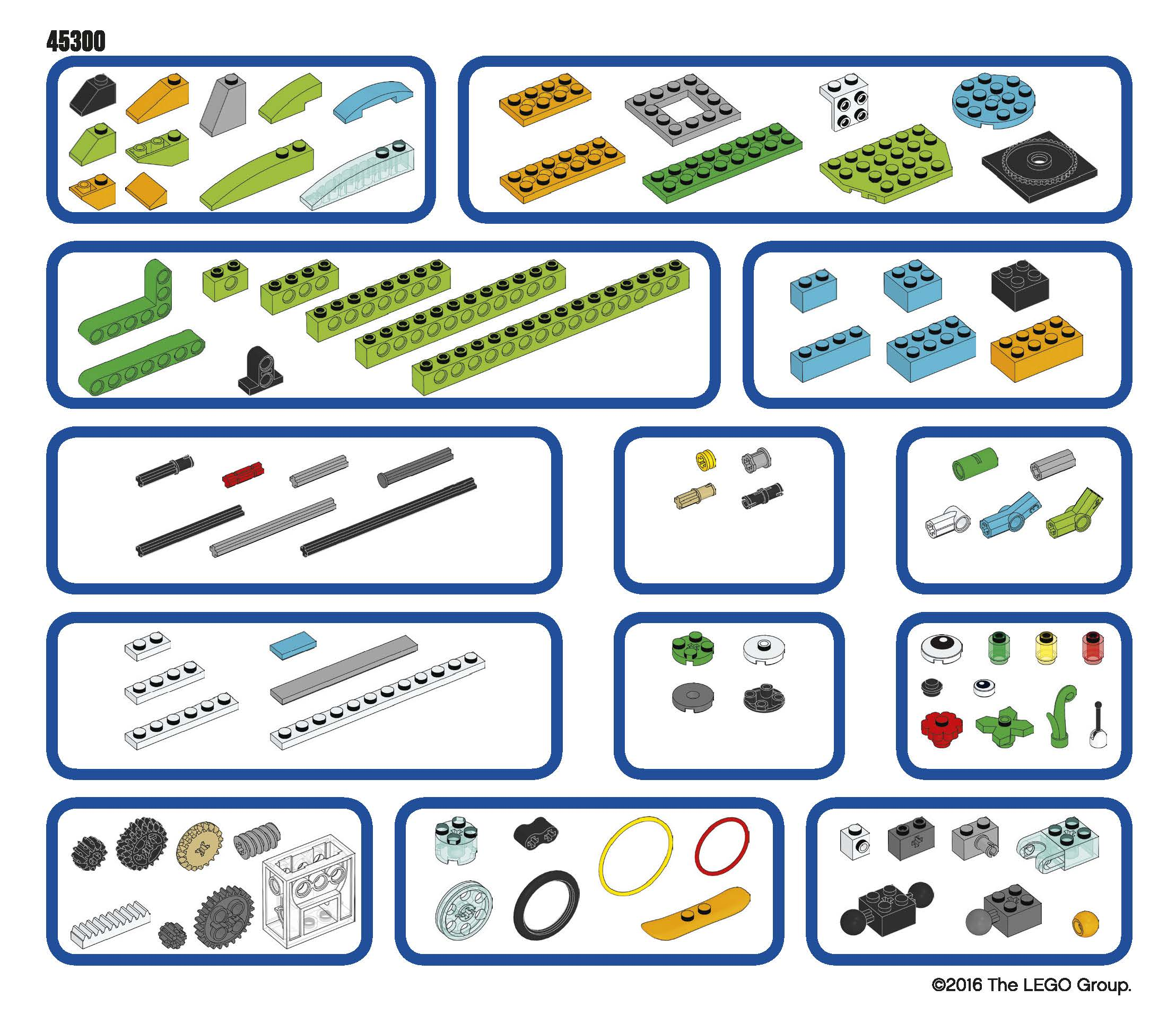 WeDo 2.0 Sorting Tray Sticker Sheet for Print