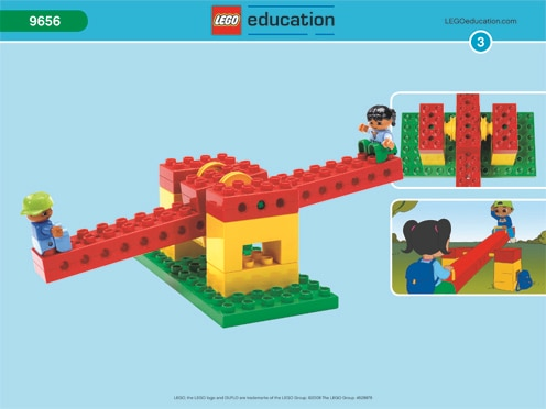 Lego Early Simple Machines seesaw diagram
