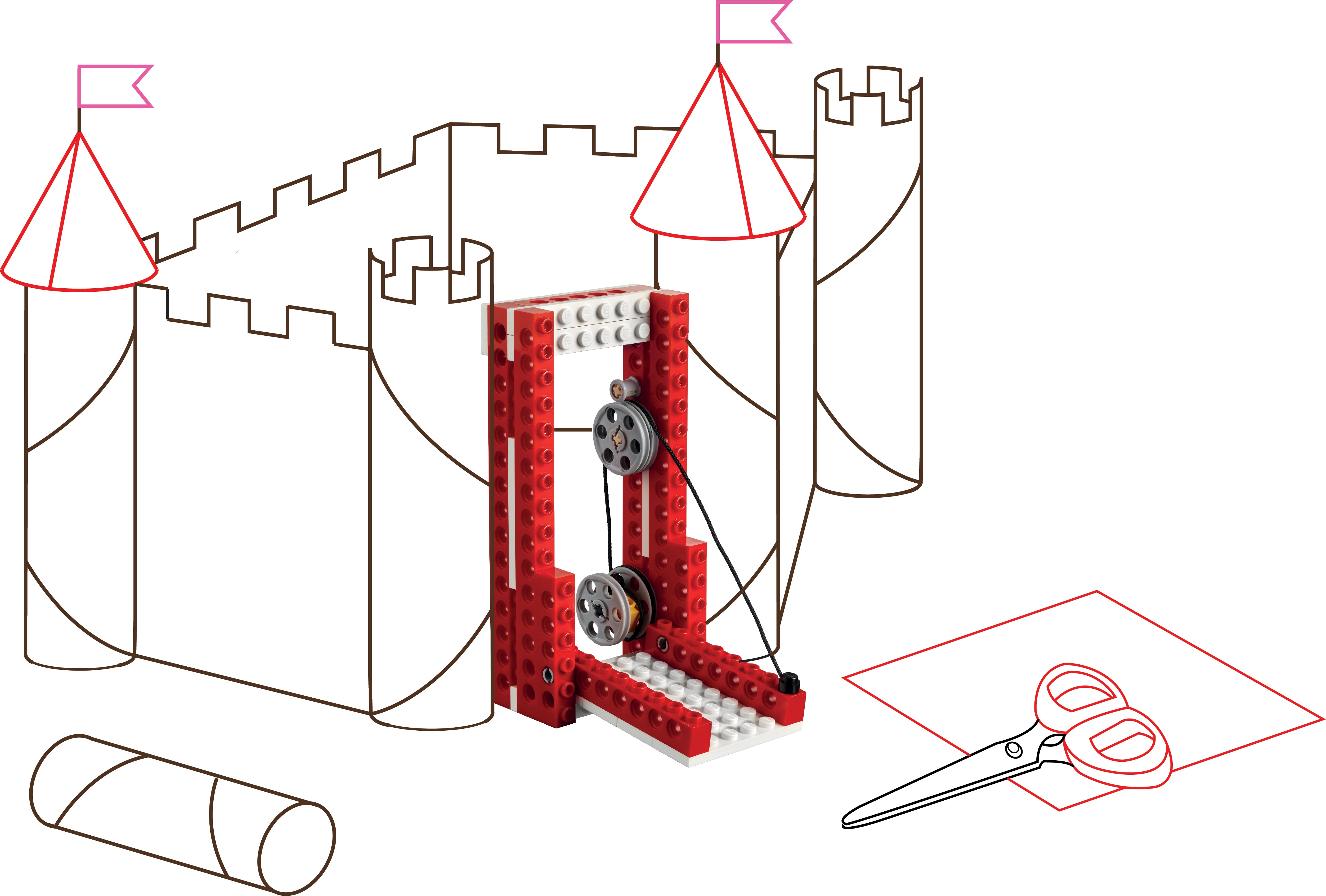 Make A Castle Mechanism Or Simple Machine
