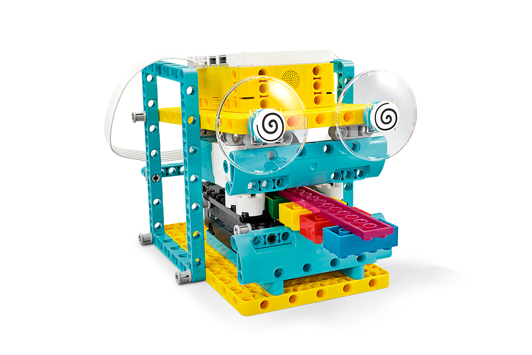 Brain Master model that can record multiple values at the same time, built with LEGO® Education SPIKE™ Prime